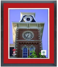Old Main Building University of Arkansas Campus- 11 x 14 Matted/Framed Photo