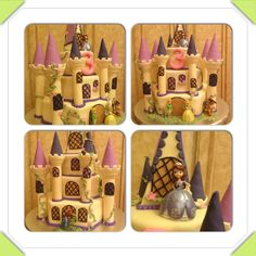 Sophia the First castle birthday cake Sofia The First Birthday Party, Pink And Gold Birthday Party, Baby Birthday, First Birthday Parties, First Birthdays, Birthday Stuff, Castle Birthday Cakes, Princesa Sophia, Crafts