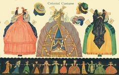 Colonial Costume:  Historic Costume Paper Doll Cut-Outs by Rachel Taft Dixon, 1934 | Bobe Green - Picasa Web Albums