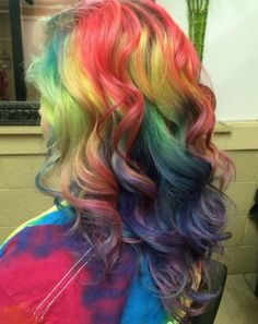 Bunte Rainbow Haare