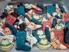 Western themed shortbread cookies.