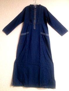 Kode : GM017 Gamis Jeans lembut Size: XL bahan dingin dan tidak transparant  Price: KrW 50.000