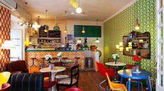 Lolina's cafe - Madrid #interior #cafe #colours #vintage #anni50 #retro #cozy