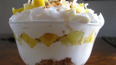 Mango Colada Parfait- just 4 simple ingredients!