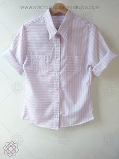 Costura fácil: Camisa a rayas + molde gratis – Nocturno Design Blog Design Blog, Button Down Shirt, Men Casual, Sewing, Costura Diy, Mens Tops, Shirts, Fashion, Supreme T Shirt