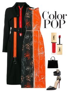 """Untitled #6817"" by kotnourka on Polyvore featuring Givenchy, Diane Von Furstenberg, Christian Louboutin, Louis Vuitton, Yves Saint Laurent and statementcoats"