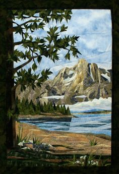 """Teton Mountains"" quilt Pattern by Cynthia England"