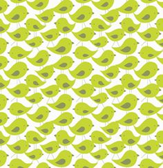 Get together fabric - Birdy green; Designer - David Walker