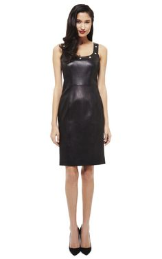 Versace Studded Leather Dress #shopitrightnow