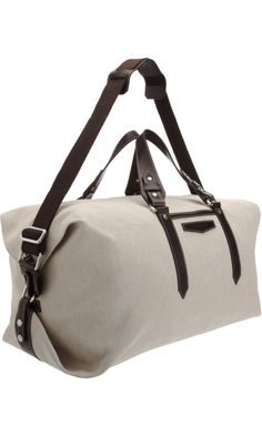 Serapian Canvas and Leather Duffel