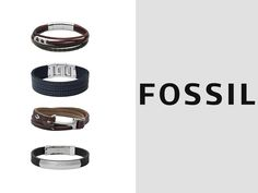 Trendy accessories from Fossil now in store!  #Fossil #bracelets #fashion #trending #RomanceTime