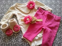 Hey, I found this really awesome Etsy listing at https://www.etsy.com/listing/219131022/baby-girl-newborn-take-home-outfit-pink