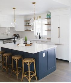 white kitchen cabinets navy island charcoal gray kitchen wood island brass fixtures 28856