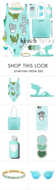 """""""Sans titre #424"""" by piponguyen ❤ liked on Polyvore featuring Ancient Greek Sandals, Kate Spade, Casetify, bkr, Crap and beachtotes"""