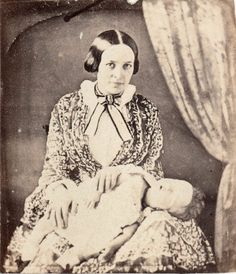 Post Mortem CDV from 1850s Daguerreotype Mother Child | eBay Very strange to see the mothers serene face while holding her deceased infant. It almost seems kind of glad, or is it shock?