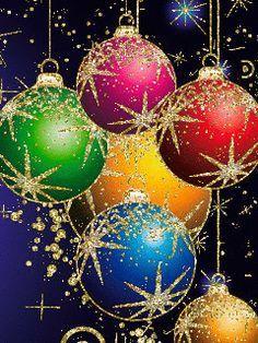 69 Bellísimas bolas de navidad - gifs animados/2 | Gifmaniacos.es Animated Christmas Tree, Christmas Scenes, Christmas Bells, Xmas Ornaments, Christmas Cats, Christmas Time, Christmas Decorations, Holiday, Merry Christmas Pictures