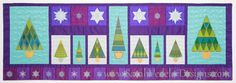 The Sparkle Table Runner uses designs from the Sparkle CD