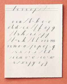 Learn how to make the alphabet using calligraphy- instead of using the ink well and pen, just get the pre-inked calligraphy pens to make it easier :)- hp