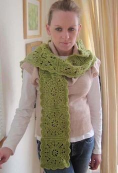 ... Square | Crochet: Scarves | Pinterest | Wheels, Squares and Scarfs