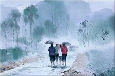 Watercolour by Myoe Win Aung
