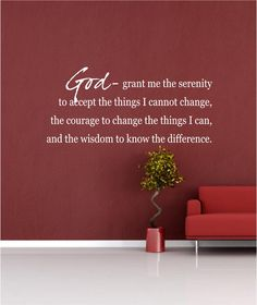 Vinyl Wall Decal......Serenity Prayer..... 10h x 22w - God Faith Religious Scripture Jesus by vinylartstudio on Etsy https://www.etsy.com/listing/123973284/vinyl-wall-decalserenity-prayer-10h-x