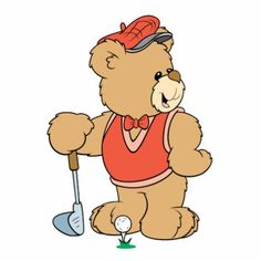 Cute Cartoon Teddy Bears | cute little bear expressing emotion silly playing golf teddy bear ...