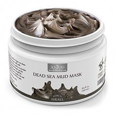 Anjou-Dead-Sea-Mud-Mask-Made-in-Israel #CleansingMaskPores Blackhead Mask, Dead Sea Mud, Pore Cleansing, Clean Pores, Charcoal Mask, Hacks, How To Get Rid Of Acne, Mask Making, Tips
