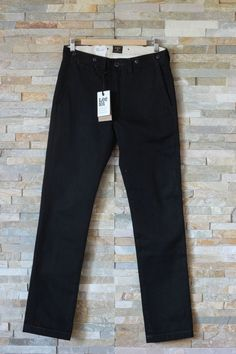 New LEE 101 Slim Chino Jeans  Selvedge Japan Denim 13oz  Dry Black