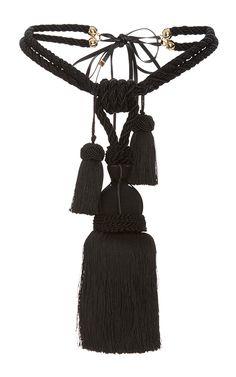 Silk Braided Tassel Belt by ROSETTA GETTY for Preorder on Moda Operandi