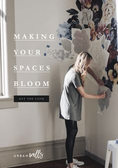 All of us weren't born with a green thumb (some of us can't even keep succulents alive). Do It Yourself Design, Floral Wall, Of Wallpaper, Hygge, Girl Room, Decoration, Vintage Floral, Home Projects, Diy Home Decor