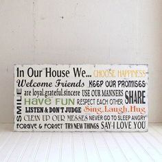 in our house we...