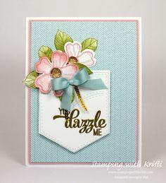 Stampin' Up! Pocket Full of Sunshine card by Kristi @ www.stampingwithkristi.com
