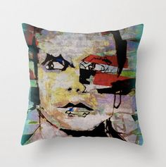 Throw pillow cover with concealed zipper multiple sizes by LeonLionStudio Throw Pillow Covers, Pillow Cases, Designer Pillow, Decorative Throw Pillows, Graffiti, Vibrant, Zipper, Unique Jewelry, Handmade Gifts