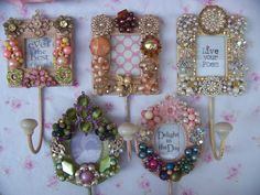 7 Versatile Clever Hacks: Shabby Chic Home Fairy Lights shabby chic office paint.Shabby Chic Wardrobe Boho shabby chic furniture how to make.Shabby Chic Crafts To Make. Costume Jewelry Crafts, Vintage Jewelry Crafts, Recycled Jewelry, Jewelry Art, Jewelry Necklaces, Skull Jewelry, Vintage Jewellery, Chic Wallpaper, Creation Deco