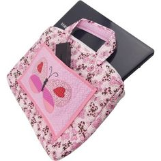 Bolsa de Patchwork para Notebook Borboleta Tablets, Laptop Sleeves, Purses And Bags, Patches, Quilts, Sewing, Notebook Rosa, Ipods, Laptop Bags