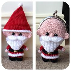 *Please note, this listing is for a crochet pattern, not for the finished item* This Santa purse is the perfect way to gift some Christmas pocket money or for filling with sweets! His head is hollow but the body section is stuffed. The pattern is 10 pages long and contains 34 photos to guide you through each step of the process. It is currently available in US crochet terms (but a version using UK terms will follow soon). To make this purse I use Patons DK smoothie. This yarn is 200m per…