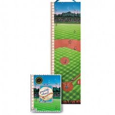 Baseball Growth Chart with stickers to mark milestones and birthdays. Love the sticker to mark height on the first day of baseball season each year!  goo goo gaa gaa children's boutique. Www.googoogaagaa.com