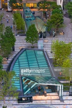 Stock Photo : Central Plaza at Midtown Tokyo
