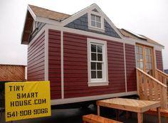 Tiny Craftsman Style House on trailer