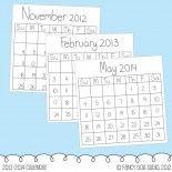 Calendar Dates Clip Art Printable 2012, 2013, 2014