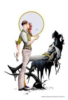 Two Face vs Batman by Jae Lee