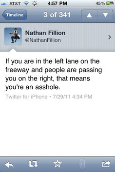 Thank you!  Nathan Fillion on how to drive.