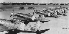 Italian fighter Macchi C.202 «Folgore» at the airport in Tripoli