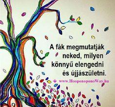 Hálát adok a mai napért. A fák megmutatják neked, milyen könnyű elengedni és újjászületni. Hogy még könnyebb legyen, az Élet számtalan lehetőséggel kínál meg. Bármit választasz, bármelyik pillanatban - rendben van. A te választásod. Emlékezz: mindig választhatod a legkönnyebb utat. Így szeretlek, Élet! A legkönnyebb úton! Köszönöm. Szeretlek ❤️ ⚜ www.HooponoponoWay.hu