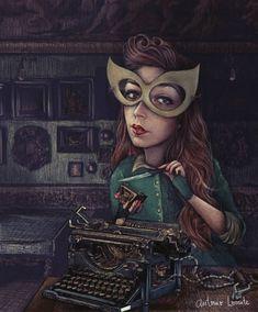 agencia-de-ilustracion-luisannet-ilustrador-antonio-lorente-secretaria Ilustración Antonio lorente . Illustration illustrator