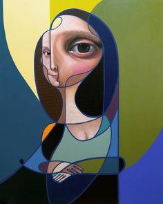 Cubist portraits by Miguel Angel Belinchon Cubist Portraits, Cubist Paintings, Cubist Art, Abstract Portrait, Abstract Art, Bd Pop Art, Arte Peculiar, Street Art, La Madone