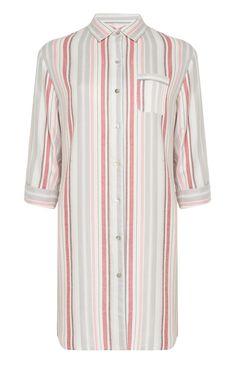 Pink And Cream Stripe PJ Shirt eee1f32af