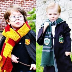 Can someone make my boys scarves like these?  Because this is too freaking cute!