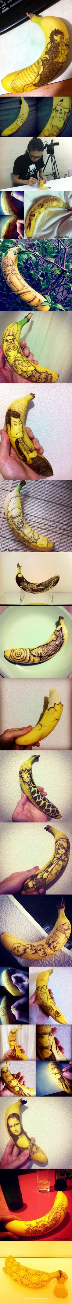 Impressive tattooed bananas by a Japanese artist