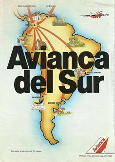 Avianca Vintage Airline, Vintage Travel Posters, Kiosk, Vintage Advertisements, Advertising, America, Cover, Pageants, Maps
